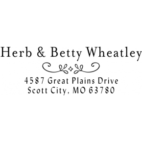 Wheatley Deco Address Stamp
