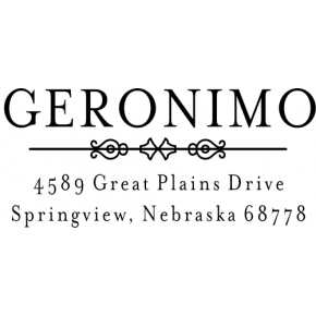 Geronimo Vintage Address Stamp