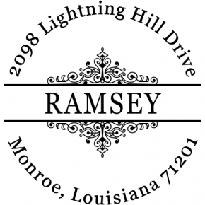Ramsey Round Decorative Address Stamp