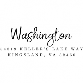 Washington Return Address Stamp