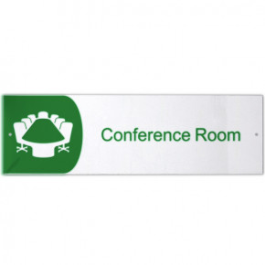 "Conference Room Icon Acrylic Print Sign - 3"" x 10"""