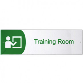 "Training Room Icon Acrylic Print Sign - 3"" x 10"""