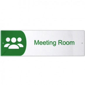 "Meeting Room Icon Acrylic Print Sign - 3"" x 10"""