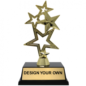 5-Star Gold Award Trophy - 2 sizes