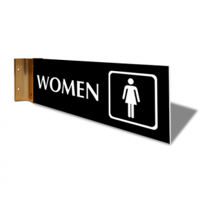 "Women's Room Icon Projection Sign | 4"" x 12"""