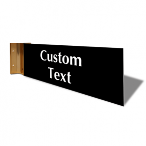 "Custom Text Projection Sign | 4"" x 12"""