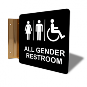 "All Gender Restroom Projection Sign | 6"" x 6"""