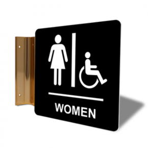 "Women's Handicap Restroom Projection Sign | 6"" x 6"""