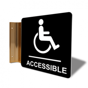 "Handicap Accessible Projection Sign | 6"" x 6"""