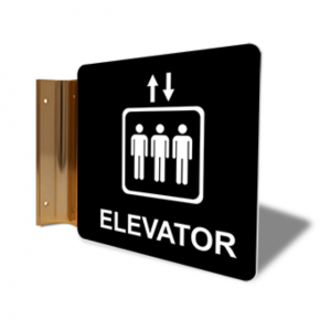 "Elevator Icon Projection Sign | 6"" x 6"""