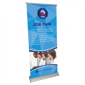 Retractable Deluxe Full Size Banner Stand
