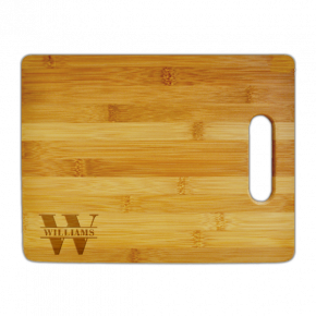 Last Name Monogram Small Cutting Board