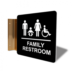 "Family Restroom Projection Sign | 6"" x 6"""