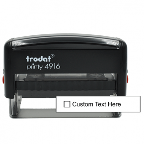1 Line Checkbox Custom Rubber Stamp