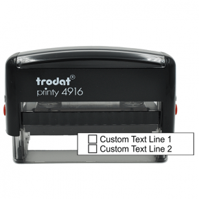 2 Line Checkbox Custom Rubber Stamp