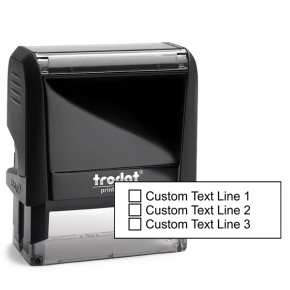 3 Line Checkbox Custom Rubber Stamp