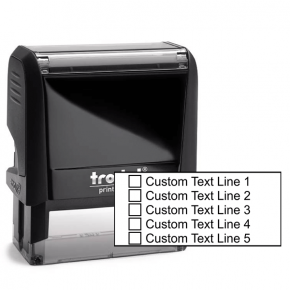 5 Line Checkbox Custom Rubber Stamp