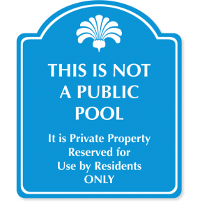 "Engraved Reserved for Residents Sign | 10"" x 12"""
