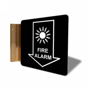 "Fire Alarm Down Arrow Projection Sign | 6"" x 6"""