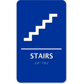 Braille Stairs Plastic ADA Sign
