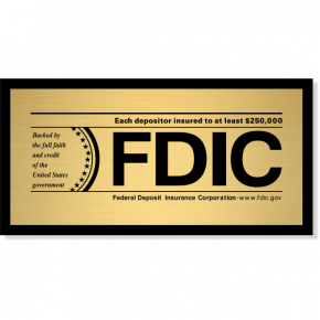 FDIC Sign for Banks & Finance