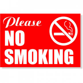 "Please NO SMOKING Sign | 4"" x 6"""