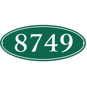 "Oval Border Home Address Sign | 5"" x 12"""