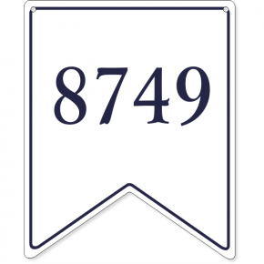 "Bunting Border Home Address Sign | 12"" x 10"""