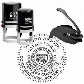 Arizona Notary - Round Stamp