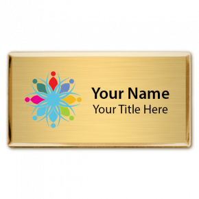 Executive Full Color Magnetic Name Badges