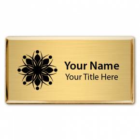 Magnetic Engraved Executive Beveled Badges