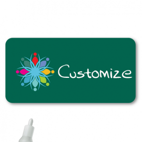 Chalkboard Magnetic Rectangle Name Tag