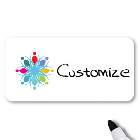 Dry Erase Magnetic Rectangle Name Tag