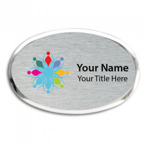 Executive Full Color Magnetic Oval Name Badges