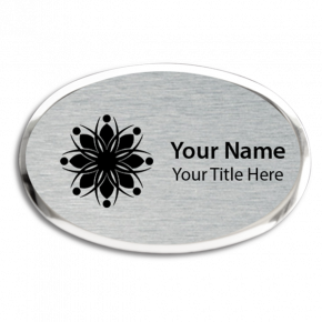 Executive Engraved Magnetic Oval Name Badges