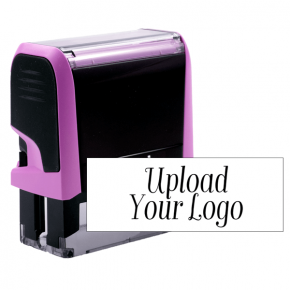 Custom Pink Rectangle Logo Stamp
