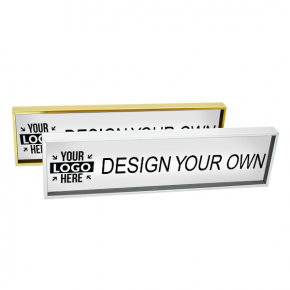 """Executive Wall Nameplate Holder with Engraved Insert (Square Corners) - 2"""" x 8"""""""