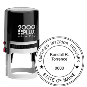 State of Maine Interior Designer Stamp