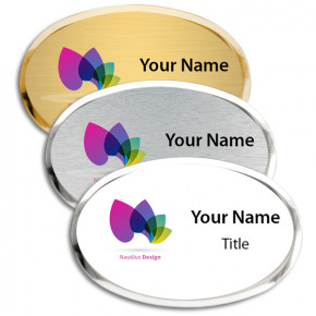 Full Color Executive Beveled Oval Badges