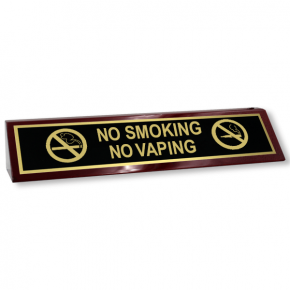 No Smoking No Vaping Wood Desk Block