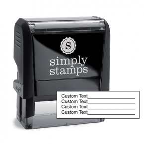 4 Line Form Custom Rubber Stamp