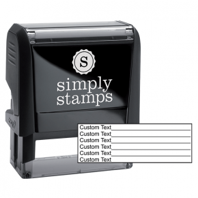 6 Line Form Custom Rubber Stamp