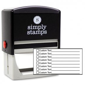 8 Line Box Form Custom Rubber Stamp