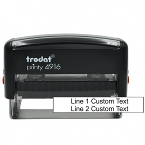 2 Line Custom Rubber Stamp