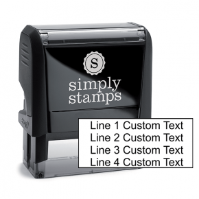 4 Line Custom Rubber Stamp