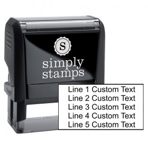 5 Line Custom Rubber Stamp