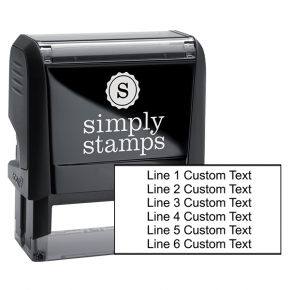 6 Line Custom Rubber Stamp