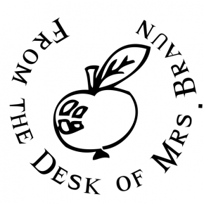 Apple From the Desk Stamp