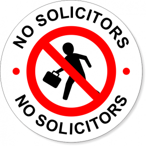 """6"""" Round No Soliciting Decal"""