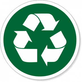 "6"" Round Recycle Decal"
